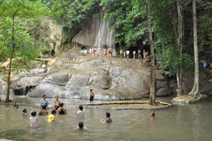 Sai Yok Waterfalls in Kanchanaburi Thailand