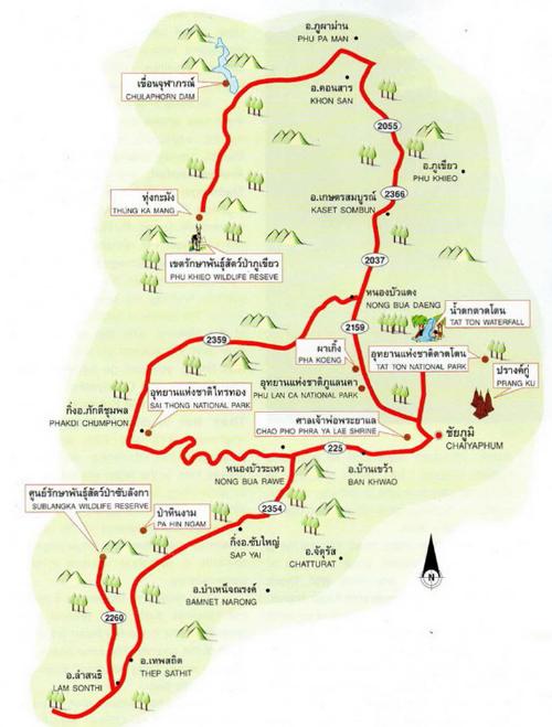 Chaiyaphum Map Thailand