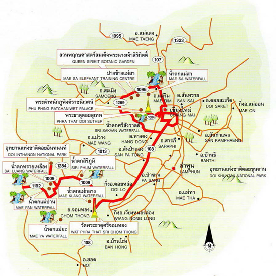 Chiang Mai Map Thailand
