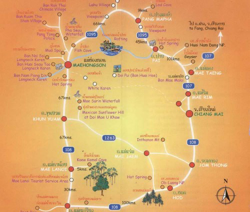 Map of Chiang Mai Thailand