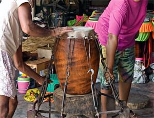 Drum Making Village Ang Thong Thailand