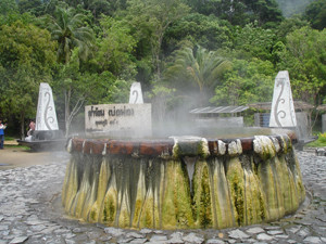 hot-sRaksa Warin Hot Springs Ranong Thailand