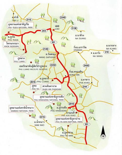 Loei Map Thailand