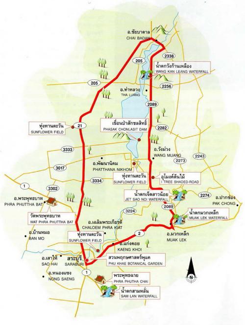 Lopburi Thailand Map.An Easy Ride At Leisure From Lopburi To Saraburi Bridgeriverkwai Com