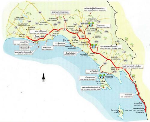 Trat Map Thailand