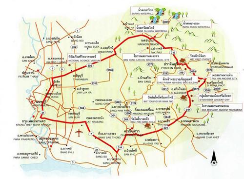 Nakhon Nayok Map Thailand