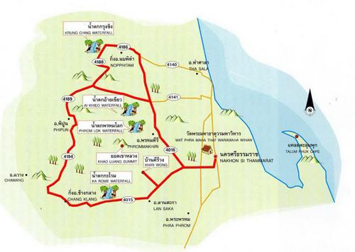 Nakhon Si Thammarat Map Thailand