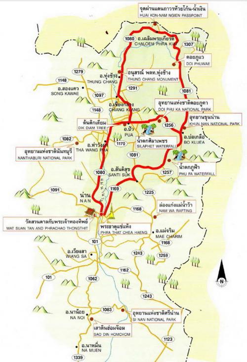 Nan Map Thailand