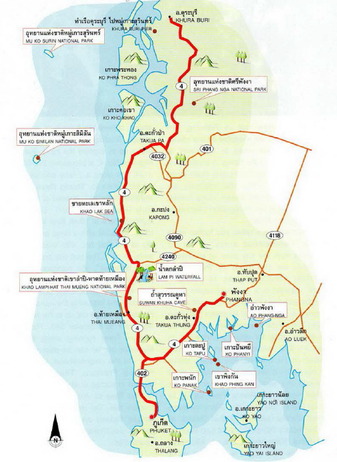 Phang Nga Map Thailand