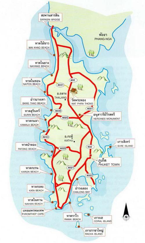 Phuket Map Thailand