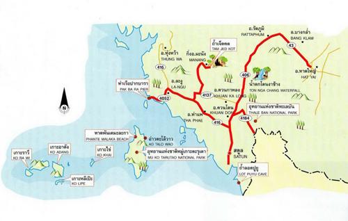 Satun Map Thailand