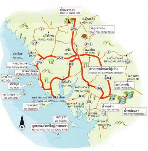 Trang Map Thailand